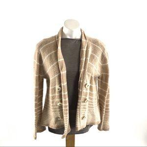 Free People open flowy cardigan sweater wool blend
